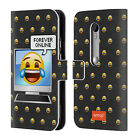 OFFICIAL EMOJI SPEECH BUBBLES LEATHER BOOK WALLET CASE COVER FOR MOTOROLA PHONES