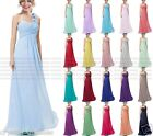 New A Shoulder Bridesmaid Dress Formal Short Evening Ball Gown Party Prom Dress