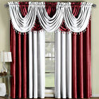Soho Faux Silk Rod Crater Panel or Waterfall valance- Single Panel Or Valance