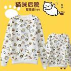 Kawaii Clothing Cute Ropa Sweatshirt Cats Neko Atsume White Harajuku Korea Japan