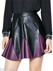 10 12 Pu Faux Leather Harley Quinn Style Skater Mini Skirt Fancy Dress Cosplay