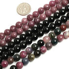 "Natural Tourmaline Round  Beads For Jewelry Making Strand 15"" 4mm 6mm 8mm 10mm"