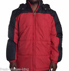Fila Men's $100 Poly Filled Red/Black Hoodie Puffer Jacket Choose Size
