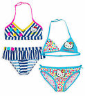 Girls Official Hello Kitty Bikini New Kids 2 Piece Swimwear Ages 4 6 8 10 Years