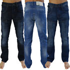 Crosshatch Lopes Mens Jeans New Button Up Multi Pocket Branded Denim Trousers