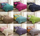 Pure Color Cotton Blend Single/Double/King Size Bedding Quilt/Duvet Cover Set