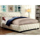 Silver Black Ivory Leatherette Twin Full Queen King Bed w/ Bluetooth Speakers