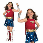 Childs Deluxe Wonder Woman Fancy Dress Costume Girls Licensed Superhero Outfit