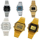 Casio Womens Digital Stopwatch Silver Gold Tone Stainless Steel Watch LA680W