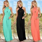 Women New Backless Summer Halter Neck Beach Long Dress Boho Evening Party