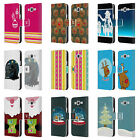 HEAD CASE MIX CHRISTMAS COLLECTION LEATHER BOOK CASE FOR SAMSUNG GALAXY J5