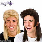 *NEW 80s 80's EIGHTIES FANCY DRESS MULLET JASON WIG HILLY BILLY REDNECK COSTUME*