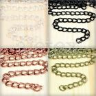 6.56 feet 2m Double Curb Chain Unfinished Chains Necklace 7.8x6.5x0.8mm