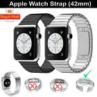 316L Stainless Steel Strap Band Bracelet Link Bracelet for APPLE WATCH 42mm UK