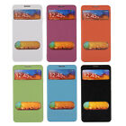Leather Flip Clock View Battery Case Cover for Samsung Galaxy Note 3 III N9000