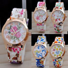 Lady Girls Jelly Dress Watches Rose Wristwatches Women Watch New Floral