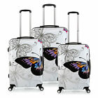 28 24 20 inch PC Butterfly Travel Luggage Suitcase 4 Wheel Cabin Trolley 3 Color