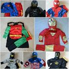 W039 Kid Boy Costume Muscle Iron Man Superman Batman Spiderman Halloween 2-7 Yrs