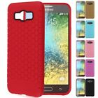 Slim Soft Honeycomb TPU Silicone Rubber Phone Case Cover For Samsung Galaxy E7
