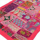 "LARGE SELECTION - 20 X 40"" PINK DECORATIVE PATCHWORK WALL HANGING TAPESTRY Boho"