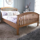 GFW Madrid Wooden Bedstead In Natural Oak or White + 1000 Pocket Memory Mattress