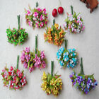 9colors Simulation Flower bouquet of blossoms Head Wedding wholesale 2 5 10set