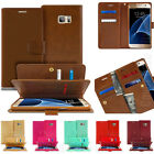 PREMIUM Leather Wallet Holder Dual Flip Pouch Cover Case for Cell Phones