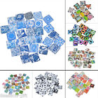 10x Glass Mix 20mm Square Dome Cameo Cabochon for Jewellery&Model Making