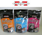 Marshall Bandits Freeze Dried Ferret Treats. Rabbit, Duck, Turkey Flavours 21g