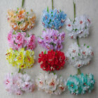 wholesale 2 5 10set Simulation Flower bouquet of blossoms Head Wedding 11 colors