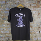 Crooks & Castles Snakes T-Shirt In Black Sizes M