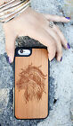 Natural Wood Case. iPhone Case. Samsung Galaxy Case. Cherry Wood. Lion Head