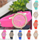 Gift Women Ladies Silicone Rhinestone Crystal Jelly Wristwatch Quartz Watches