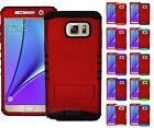 Samsung Galaxy Note 5 - Shock Proof Armor Impact Hybrid Hard Cover Case DARK RED