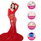 Women Sexy Red Minimalist Backless Open Cutout Back Maxi Long Dress New