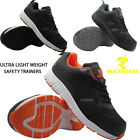 MENS ULTRA LIGHTWEIGHT STEEL TOE CAP SAFETY WORK TRAINERS LADIES SHOES BOOTS SZ