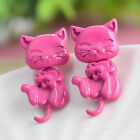 New Women 3D Cat Stud Earings Cute Cat Earrings Charm Jewelry Earrings WB