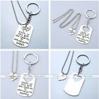 2pc Family Daddy Mommy Girl Heart Love Puzzle Necklace Keychain Keyring Set Gift