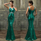 Quinceanera Sequins Formal Wedding Bridesmaid Evening Party Prom Dress Mermaid