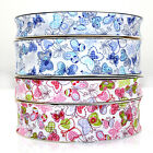 BUTTERFLY BIAS BINDING TRIM 18mm or 30mm WIDTH  BLUE or PINK - 25m ROLL 1m or 5m