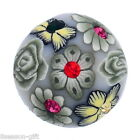 Gift Wholesale Snap Button Fit Snap Bracelet Polymer Clay Flower 18mm #8