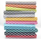 MONO CHEVRON STRIPE 100% COTTON FABRIC Ex wide 160cm zig zag