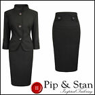 NEXT UK12 14 US8 10 BROWN PENCIL SKIRT SUIT 50S WOMENS LADIES SIZE PIP AND STAN