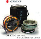 *NEW* Greys * GTS700 * CASSETTE FLY REEL & 3x LOADED LINES & SPARE SPOOL Options