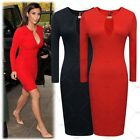 Ladies Elegant Cocktail Evening Party Formal Wedding Dresses Color Red Size XXL