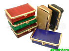New EEL SKIN Framed Makeup/Cosmetic/Make up Case/Purse with Mirror inside