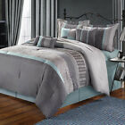 Euphoria Grey Comforter Bed In A Bag Set 12 piece