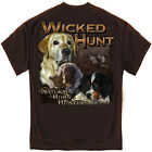 Hunting T Shirt Natural Born Hunters Labrador Hound Dogs