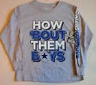 DALLAS COWBOYS AUTHENTIC APPAREL LONG SLEEVE T SHIRT YOUTH S M L XL GRAY NWT $19.99 USD on eBay