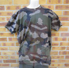 NEW FRENCH ARMY SURPLUS COTTON CENTRAL EUROPEAN CE CAMO T-SHIRT,WOODLAND CAMO